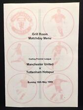 More details for man utd v spurs 1998 / 1999 menu manchester united treble season title decider