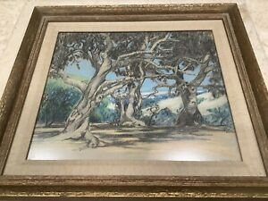 California Art Santa Cruz Region Florence G Weage  Devonshire Oaks