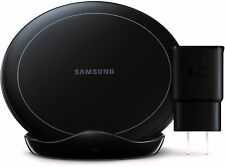 Samsung Qi Certified Fast Charge Wireless Charger Stand (2019 Edition) - Black