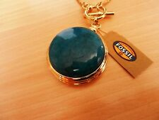 Fossil Vintage Revival Pendant with Semi Precious Set Stone  MSRP $74