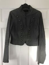 Ladies River Island faux leather grey jacket size 12 advertised elsewhere also