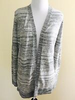 Lou And Gray/ Ann Taylor Loft  Black /Gray Mixed Cardigan Sweater Size Xs