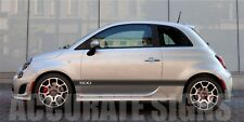 FIAT 500 GRAPHICS SET STICKERS STRIPES CAR DECALS  ANY COLOUR