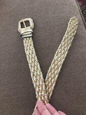Vintage Gold Braided Belt Size X-Large Man Made Material 43� (Jl)