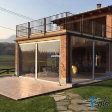 Tenda in Crystal trasparente Mod EOLO protezione pioggia vento copertura inverno