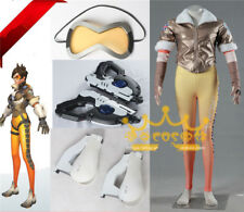 Fancy Overwatch Tracer Cosplay Costume Lena Oxton Full Set 4PCS Halloween Props