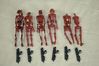 STAR WARS ~ Geonosis Battle Arena Droids ~ 4 complete with Weapons + Parts