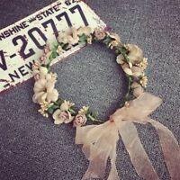 Womens Boho Flower Floral Hairband Headband Crown Party Bride Wedding Beach Pop