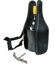 Caddy-O Travel Wine Champagne Carrier W/Cork Screw Opener,Chiller Insert & Strap