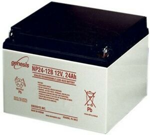 Genesis np24 12b 12v 24ah battery