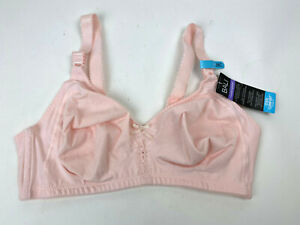 New BALI Classic Support COOL Comfort COTTON Wirefree Bra LIGHT PINK Sz 38C