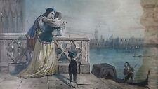alte Lithographie Barock Motiv Venedig Venecia antica