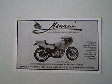 advertising Pubblicità 1980 MENANI e MOTO SUZUKI GS 500