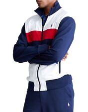 NWT POLO RALPH LAUREN Men's Soft Cotton Interlocking French Navy Track Jacket-XL