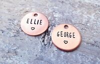 Personalised Extra Name Tags  for my keyrings metal stamped copper