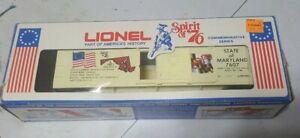 LIONEL SPIRIT OF 76 MARYLAND BOXCAR 6-7607