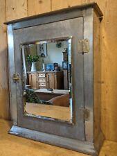 Stylish Vintage Metal Bathroom Cabinet~Cupboard~Industrial~Mirrored Door~