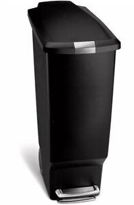 Simplehuman 40lt Black Plastic Pedal Bin Locking Lid BRAND NEW