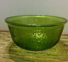 New listing Vintage Green Textured Glass Serving Bowl/Candy Dish/Home Decor-Patterned