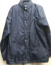 US Basic Blue Zip Jacket With Hidden Hood - Large