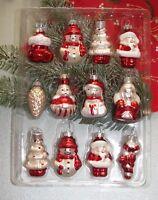 12er Set Design-Weihnachtskugeln*verschieden Figuren - formano - Weihnachten