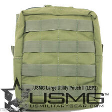 US Military Gear - High Quality Large Olive Zipped Molle Utility Pouch II [AW3]