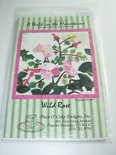 QUILT SQUARE PATTERN WILD ROSE CRAFT SEWING QUILTING PROJECT PIECE O'CAKE