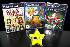 LOTTO STOCK 3 GIOCHI D'AZIONE BEE MOVIE BRATZ GHOSTBUSTERS PS2 NUOVO ITA STOCK42