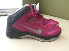 timeless design 55408 46a02 NIKE HYPERQUICKNESS PINK BREAST CANCER WOMENS BASKETBALL SHOES SIZE 10.5