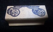 """Craft Stamp Rubber Truck Base with Wheels Flatbed By BIZZARD 2"""" X .75"""" Print!!"""