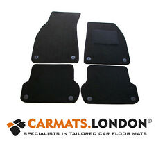 Audi A4 Cabriolet 2001 - 2008 Tailored Car Floor Mats Complete Fitted Set Black