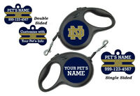 Notre Dame Custom Pet Id Dog Tags/Retractable Leash Personalized for Your Pet