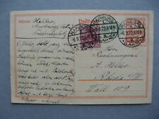 GERMANY INFLATION, uprated revalued prestamped PC (card) 06-09-1922, total 1,50