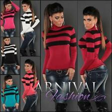 Viscose Machine Washable Striped Jumpers & Cardigans for Women