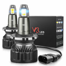 60W 7600LM LED Headlight w/ updated TX1860 Chip D2S D2R D2C 6000K Bulbs One Pair