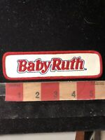 """Vintage Old Stock BABY RUTH CHOCOLATE CANDY BAR Patch - Over 5"""" Long! 00RG"""