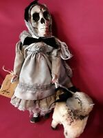 "Sinisterly Sissy's 'Mary and her Lamb' Undead,Spooky,Creepy,Haunted, 18"" inch"