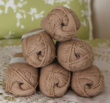 Rowan Purelife Organic Wool Natural Black Tea Yarn -- 6 Skeins + Free Gift!