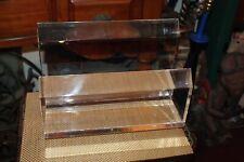 Heavy Lucite Display Shelf Mid Century Modern Lucite Holder Clear