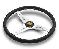 MOMO California Heritage Steering Wheel 360mm Chrome Spokes Black CAL36BK2S