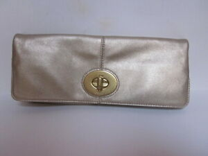 VINTAGE COACH BONNIE MADISON GOLD FOLD OVER CLUTCH