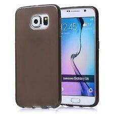 Coque Etui Housse Silicone Gel Noir Transparente pour Samsung Galaxy S6 Au Choix