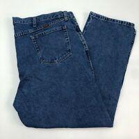 Rustler Denim Jeans Mens 44X30 Blue Straight Leg 100% Cotton Medium Wash Pockets