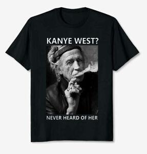 Retro Keith Richards In Concert Guitarist Singer Black T Shirt Size S-3XL Gift