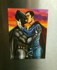 BATMAN SUPERMAN GAY EROTIC ART FRIDGE MAGNET Home Decor Kitchen Print