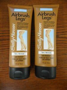 LOT OF 2 SALLY HANSEN AIRBRUSH LEGS LEG MAKEUP TAN/BRONZE  4.0oz EACH