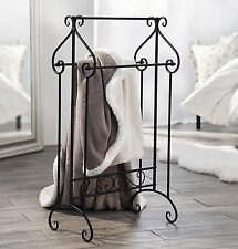 Kleiderständer Handtuchständer Garderobe Stummer Diener Metallständer schwarz