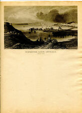 Vintage MAGNUS  LETTERHEAD KINGSTON LAKE ONTARIO Canada soldiers on shore