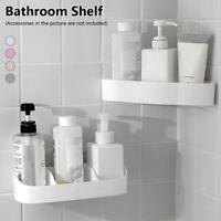 Bathroom Shelf Adhesive Storage Rack Corner Holder Organizer Basket Home Decor