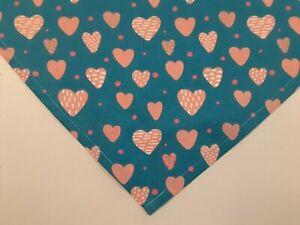 Hearts Valentine/'s Dog Bandana Pretty Girly Doggie Pink Red Violet Puppy Scarf Custom Valentine Gift Girl Pets Heart Love Neckerchief